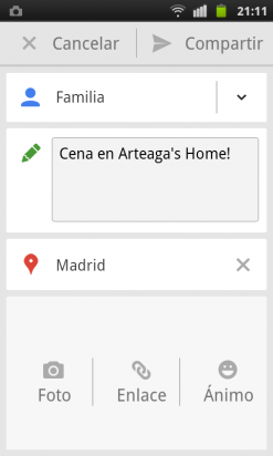 Registra una visita en un local en la app de Google Plus