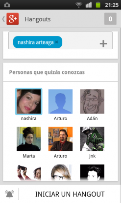 Inicia un Hangout en la app de Google Plus
