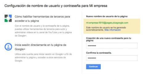 Establece una contraseña para tu página de Google Plus
