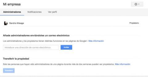 Nombra otros administradores en tu página de Google Plus
