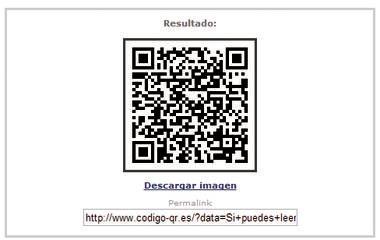 Imagen de código QR online