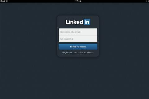 Configura la app de LinkedIn en iPad