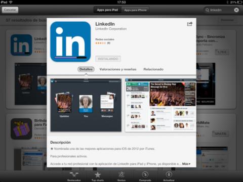Descarga la app de LinkedIn de App Store