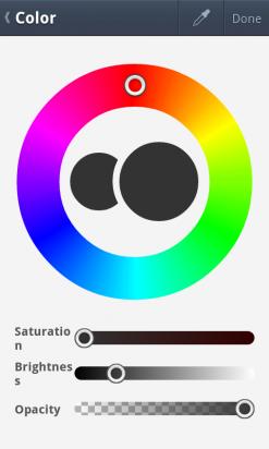 Selecciona el color en LINE Brush
