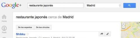 Utiliza el buscador en Local de Google Plus