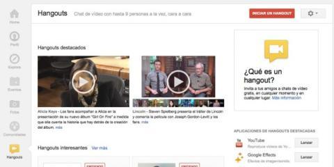 Accede a Hangouts en Google Plus