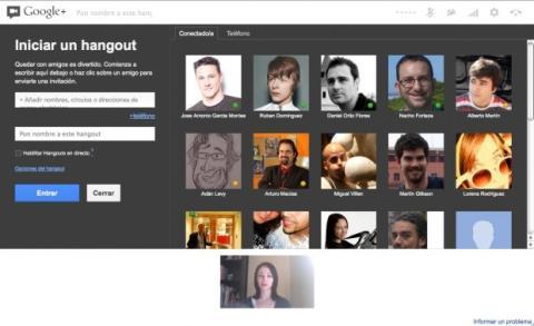Completa el formulario para crear el hangout en Google Plus