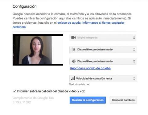 Configura las opciones del hangout en Google Plus