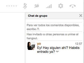 Muestra el chat de grupo en Hangouts de Google Plus