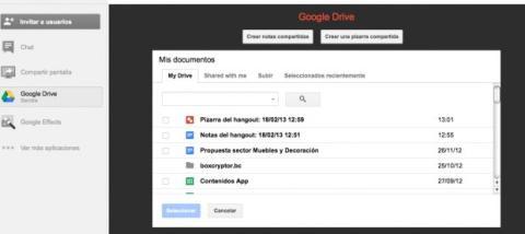 Accede a Google Drive en Hangouts