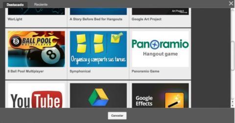 Añade más apps en Hangouts de Google Plus