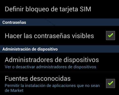 Activa la opción de instalar Apps de fuentes externas a Google Play