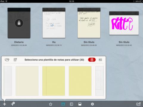 Crea un nuevo cuaderno en UPAD Lite