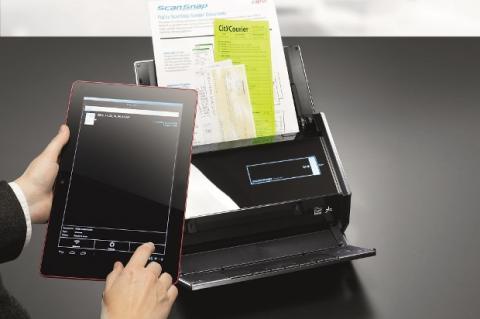 Fujitsu Scan Snap iX500 en el Mobile World Congress.