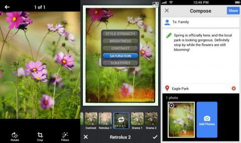 App Google+ filtros fotográficos iOS