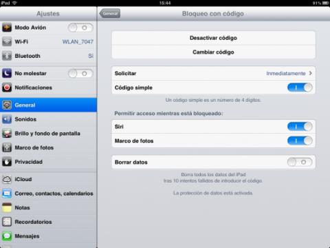 Desactiva el código de bloqueo en tu iPhone o iPad para hacer jailbreak