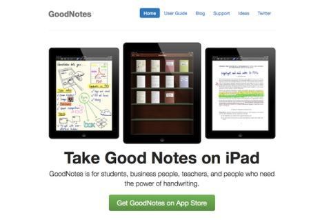 Escribe a mano en iPad con GoodNotes Free