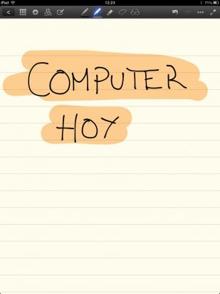 Escribe a mano con lápiz capacitivo en GoodNotes Free