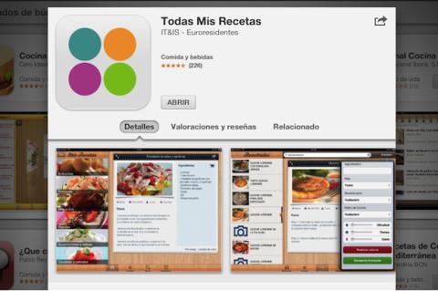 Cocina recetas con tu iPad