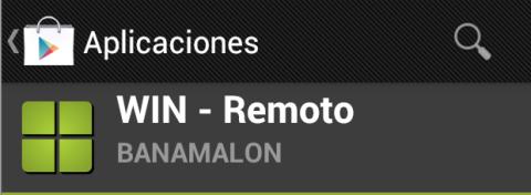 Instala Win Remoto desde Play Store