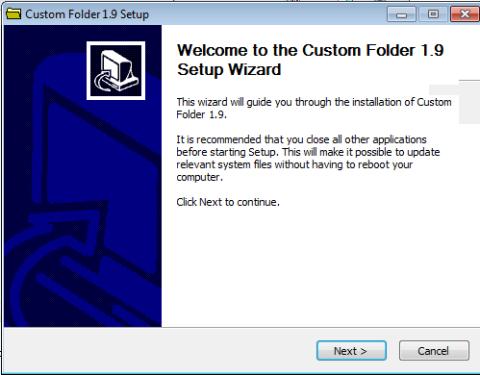 Instalación Custom Folder