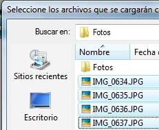 Archivos a utilizar