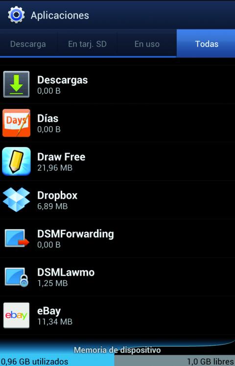 Las apps están en Ajustes y Administrador de Aplicaciones