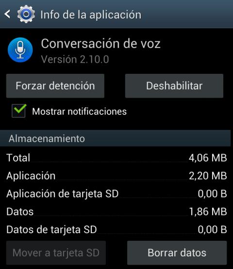 Deshabilita la app