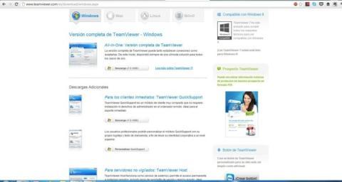 Página web de TeamViewer