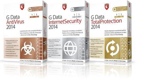 G Data 2014 está disponible en 3 versiones: Antivirus, Internet y Total Proteccion