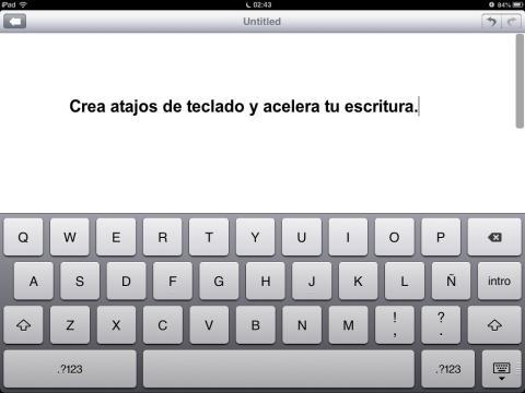 Teclado de iPad