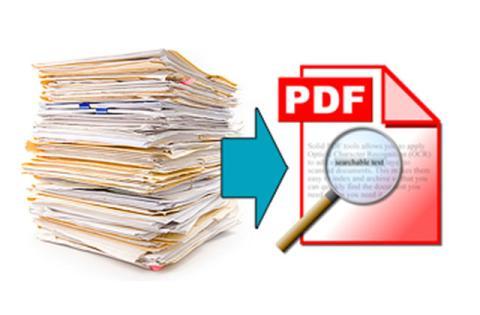 Convierte páginas escaneadas en PDF