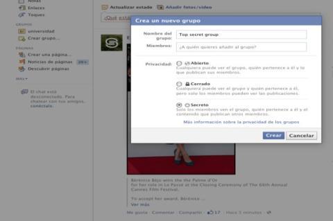 Grupo secreto Facebook