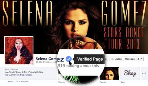 cuentas verificadas famosos en facebook