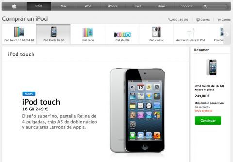 nuevo ipod touch 16 GB
