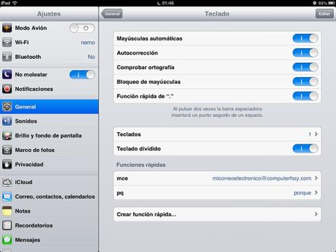 Accede a las opciones de tu iPhone o iPad