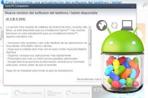 Jelly Bean 4.1.2 para Xperia S ya está disponible