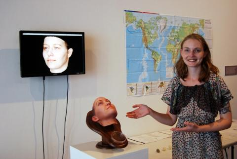 Heather Dewey modelo facial en 3D
