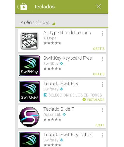 Elige un nuevo teclado Android