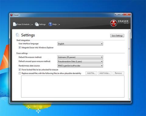 Elige el método de borrado seguro de archivos