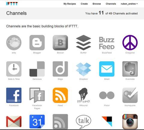 Activa las redes sociales y el almacenamiento en la nube