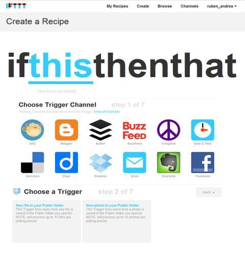 Crea tus recetas de IFTT
