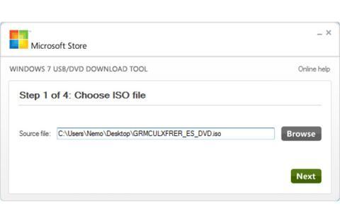 Crear un Windows USB desde una ISO