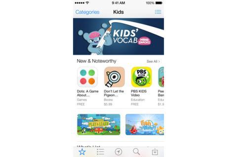 iOS 7 con nueva categoría para niños