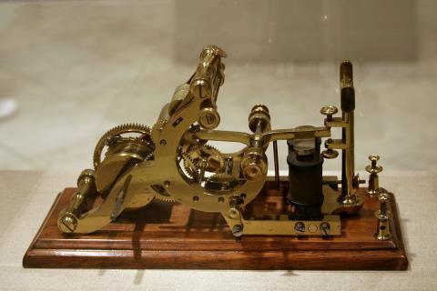 Telégrafo de Morse. India ha dejado de utilizarlo
