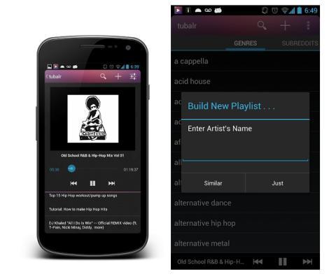 Tubalr, música gratis en tu Android