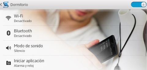 Selecciona qué acciones quieres asociar a la etiqueta NFC.