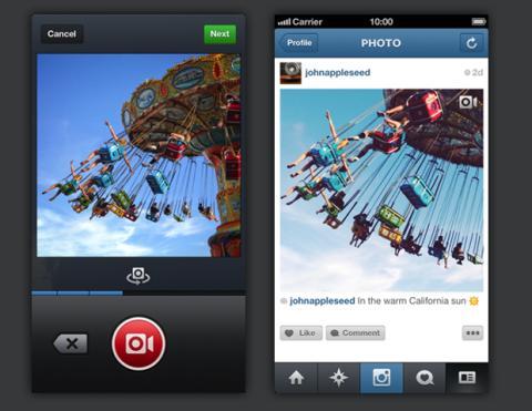 Los rumores eran ciertos: Instagram ahora captura vídeo