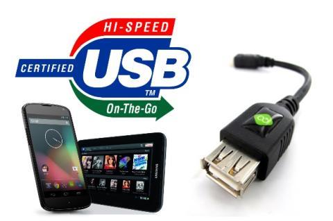 Conecta todo tipo de dispositivos a tu smartphone o tablet mediante un cable USB OTG