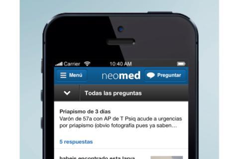Una muestra de la nueva app para médicos